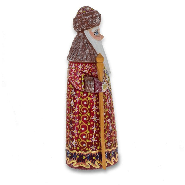 Buy Online Gift Shop Hand Carved Unfinished Wooden Russian Ded Moroz (Santa) Figurine 6.5 Inches