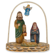 Russian Wooden Hand Carved Nativity Scene Figurines 6.4 Inches by BestPysanky