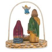 Buy Online Gift Shop Russian Wooden Hand Carved Nativity Scene Figurines 6.4 Inches