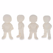Buy Online Gift Shop Set of 4 Blank Superhero Ceramic Figurines Male and Female 3 Inches