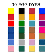 Set of 30 Batik Dyes for Pysanky Ukrainian Easter Eggs Decorating by BestPysanky