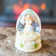 Bunny with Easter Egg Water Globe