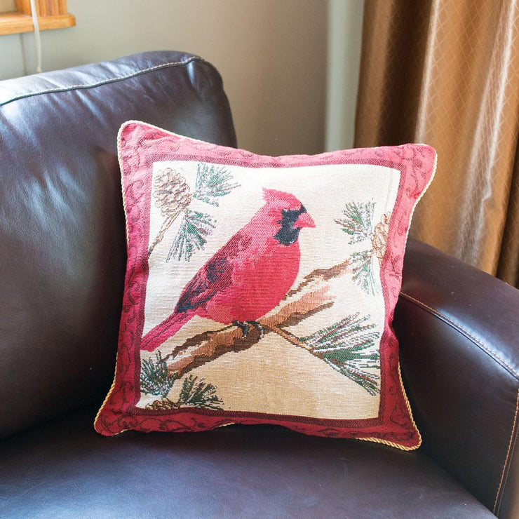 Buy Online Gift Shop Set of 2 Red Cardinal Christmas Throw Cushion Pillow Covers