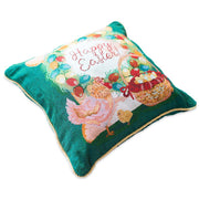 Set of 2 Happy Easter & Easter Eggs Throw Pillow Covers