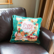 Buy Online Gift Shop Set of 2 Happy Easter & Easter Eggs Throw Pillow Covers