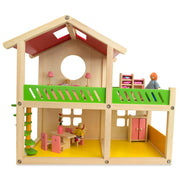 1 Bedroom Wooden Toy House 18.5 Inches by BestPysanky