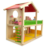 Kids Wooden 1 Bedroom Toy House 18.5 Inches