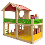 Buy Online Gift Shop 1 Bedroom Wooden Toy House 18.5 Inches