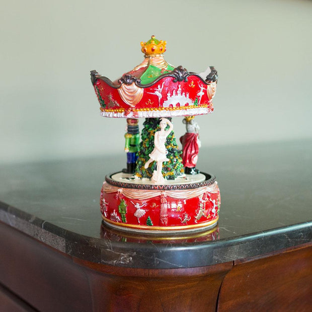Musical Rotating Carousel with Ballerina and Nutcracker