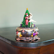Ballerina Dancing with Nutcracker Spinning Musical Christmas Figurine