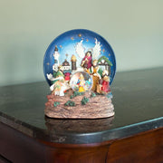 Animated Nativity Scene Musical Snow Globe