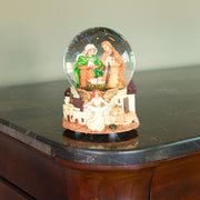 Nativity Scene with Guardian Angel Musical Water Snow Globe