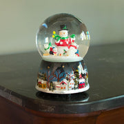 Snowman with Polar Bears and Penguins Rotating Musical Water Globe