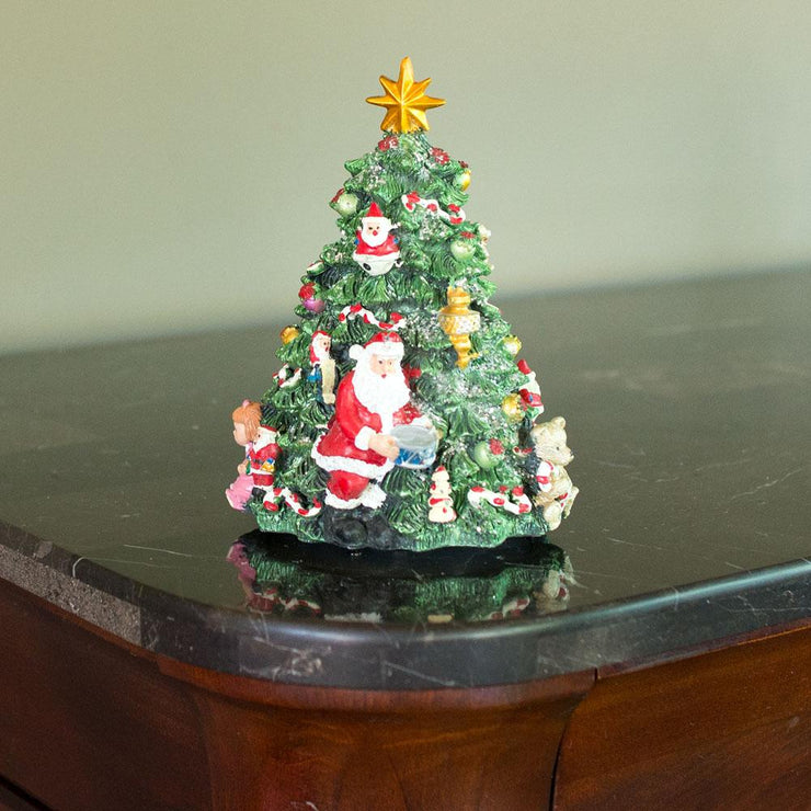Rotating Tabletop Christmas Tree with Music Box