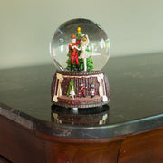 Nutcracker and Ballerina Dancing around Christmas Tree Musical Water Snow Globe Figurine