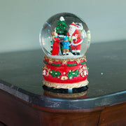 Santa Giving Christmas Gifts Musical Snow Water Globe Figurine