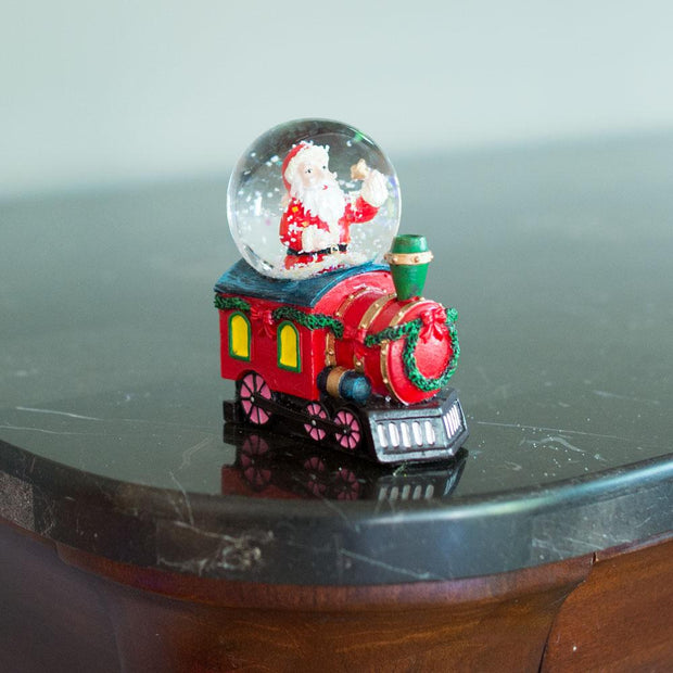 Buy Online Gift Shop Santa Ringing a Bell on a Christmas Train Mini Water Snow Globe