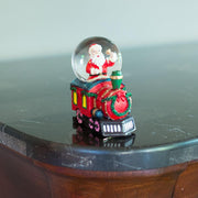 Santa Ringing a Bell on a Christmas Train Mini Water Snow Globe