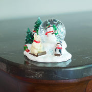 Cheerful Snowman, Polar Bear and Penguins Mini Snow Globe