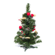 Buy Online Gift Shop Ukrainian Tabletop Christmas Tree with Straw Bows, Apples & Pine Cones 20 Inches