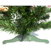Ukrainian Tabletop Christmas Tree with Straw Bows, Apples & Pine Cones 20 Inches