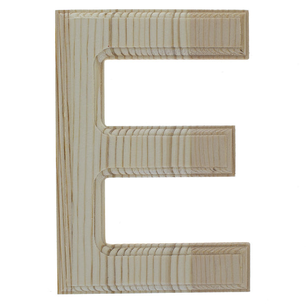Unfinished Wooden Arial Font Letter E 6.25 Inches by BestPysanky