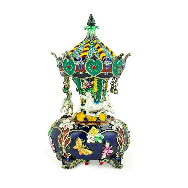 Jeweled Royal Inspired Russian Carousel Figurine 5.5 Inches by BestPysanky