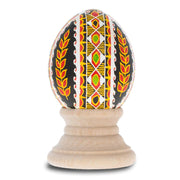Kolochava Chicken Size Blown Real Ukrainian Easter Egg Pysanky by BestPysanky