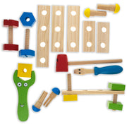 Buy Online Gift Shop 21 Pieces Construction Building Tools in Wooden Toolbox