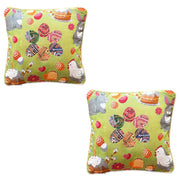 Set of 2 Easter Eggs with Bunny, Chicks and Willow Tree Throw Cushion Pillow Covers