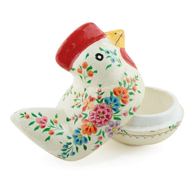 BestPysanky Easter > Figurines > Chicks - White Rooster Decorative Wooden Easter Figurine