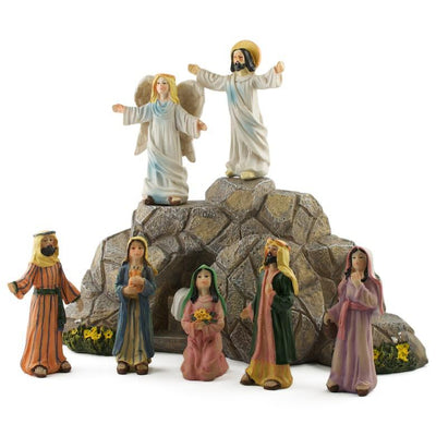 Jesus Resurrection Scene Figurines 11 Inches by BestPysanky