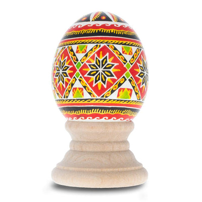 Pylypets Chicken Size Blown Real Ukrainian Easter Egg Pysanky by BestPysanky