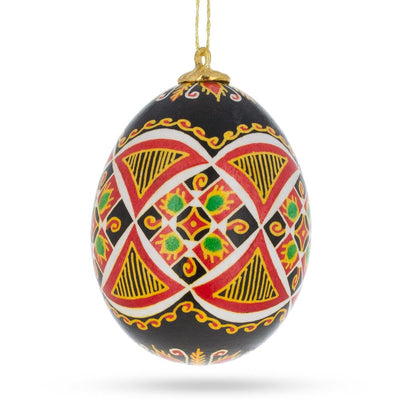 Real Hollow Blown out Eggshell Pysanka Ukrainian Easter Egg Ornament by BestPysanky