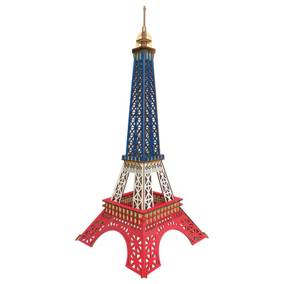 Paris Eiffel Tower Model Kit - Wooden Laser-Cut 3D Puzzle (94 Pcs) by BestPysanky