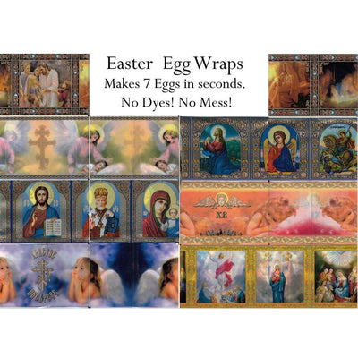 7 Christian Icons and Angels Ukrainian Easter Egg Decorating Wraps by BestPysanky