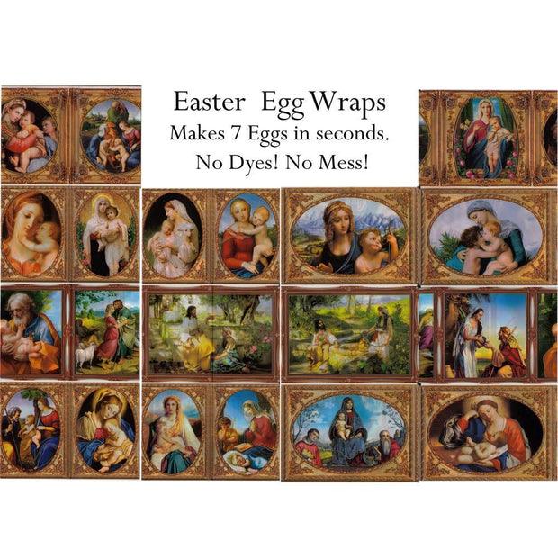 7 Mary With Baby Jesus Easter Egg Wraps by BestPysanky
