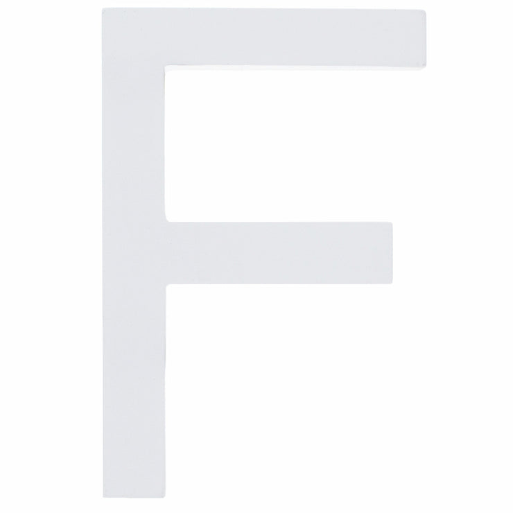 Arial Font White Painted MDF Wood Letter F (6 Inches) by BestPysanky