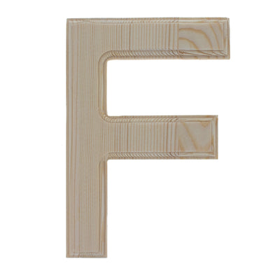 Unfinished Wooden Arial Font Letter F (6.25 Inches) by BestPysanky