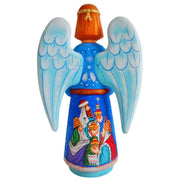 Nativity Scene Ukrainian Hand Carved Solid Wood Figurine 10 Inches