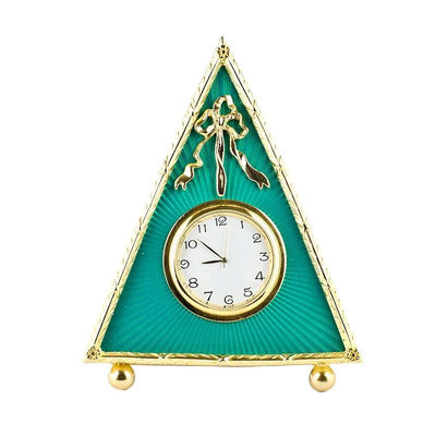 Green Enameled Guilloche Antique Style Russian Royal Clock Frame 5 Inches by BestPysanky