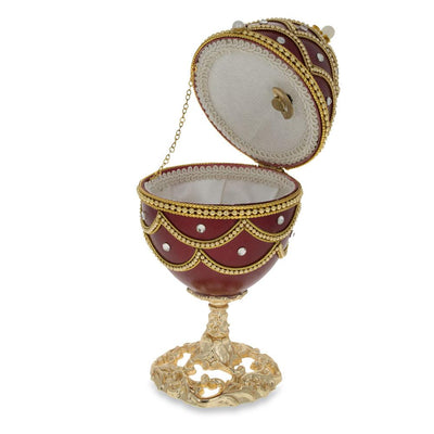 Real Eggshell Royal Inspired Musical Russian Egg 5.4 Inches by BestPysanky