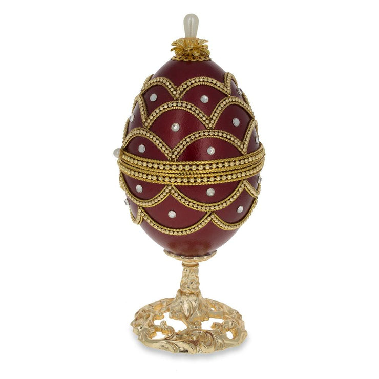 Buy Online Gift Shop Real Eggshell Royal Inspired Musical Russian Egg 5.4 Inches