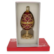 Real Eggshell Royal Inspired Musical Russian Egg 5.4 Inches