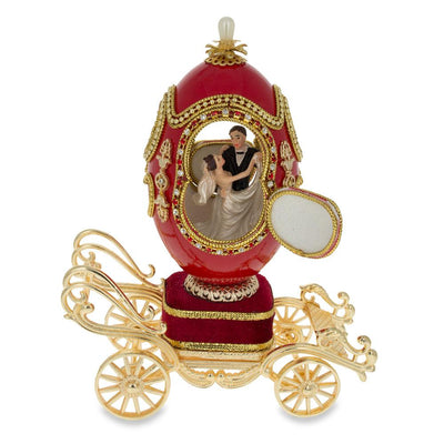 Royal Wedding Coach Royal Inspired Russian Egg with Music Box 7.1 Inches by BestPysanky