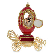 Buy Online Gift Shop Royal Wedding Coach Royal Inspired Russian Egg with Music Box 7.1 Inches