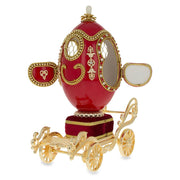 Royal Wedding Coach Royal Inspired Russian Egg with Music Box 7.1 Inches