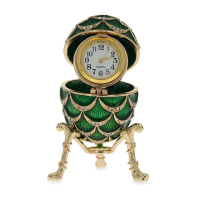 Royal Inspired Pinecone Russian Egg with Clock 2.7 Inches by BestPysanky