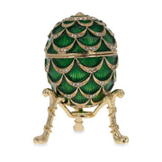 Royal Inspired Pinecone Russian Egg with Clock 2.7 Inches