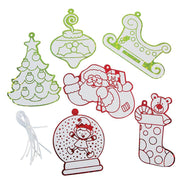 Set of 12 Foil Christmas Ornaments by BestPysanky